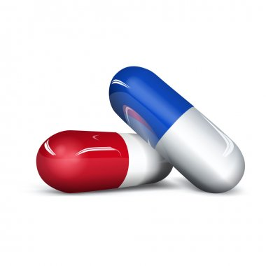 Red and blue capsule
