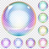 sada různobarevné mýdlové bubliny