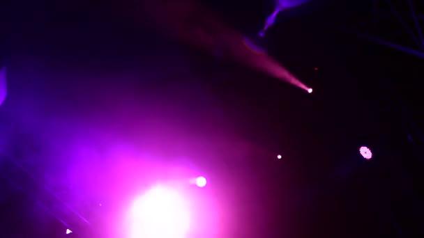 Reflector Strobe Lights Background Stock Video