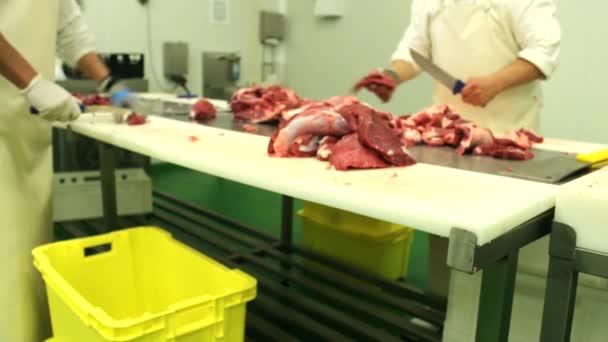 syrové maso výroby, řezníci, čerstvé vepřové řezník maso čipy