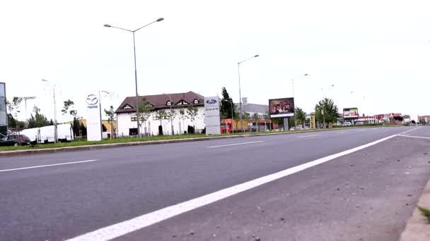 Traffic Road in Vojvodina,Serbia,zebra crossing