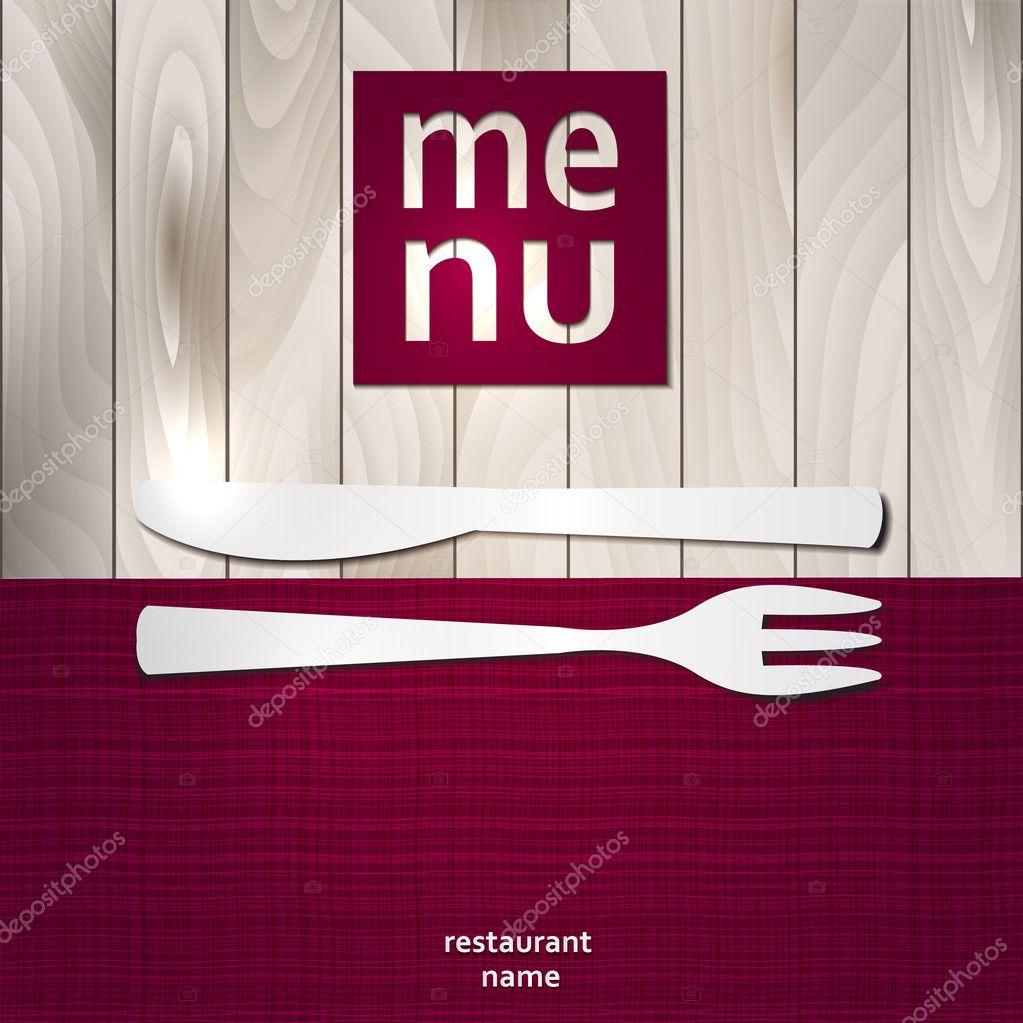 Decorative Menu card. Vector Illustration.