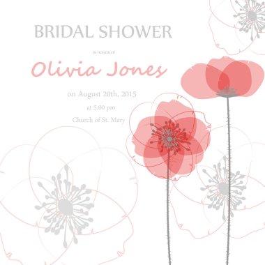 Bridal shower or wedding invitation or card