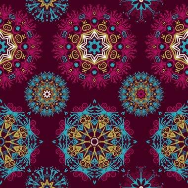 Abstract mandala seamless