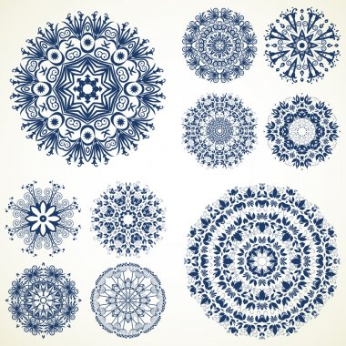Set of ten mandalas