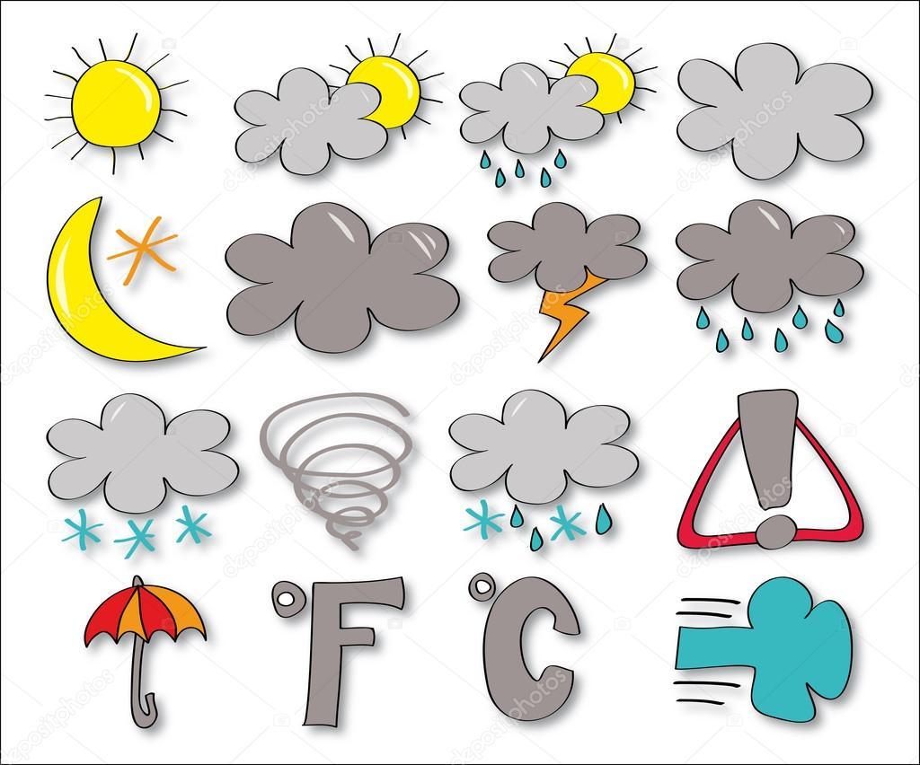 Dibujos Dibujo Del Clima Conjunto De Dibujo Icono Clima