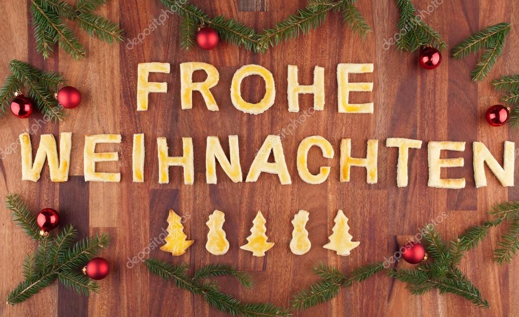 Buon Natale Que Significa.Frohe Weihnachten Con Decorazioni Foto Stock C Nelosa 26649561
