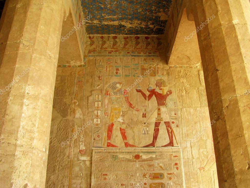 Ancient egyptian fresco — Stock Photo © nanaplus #18035233