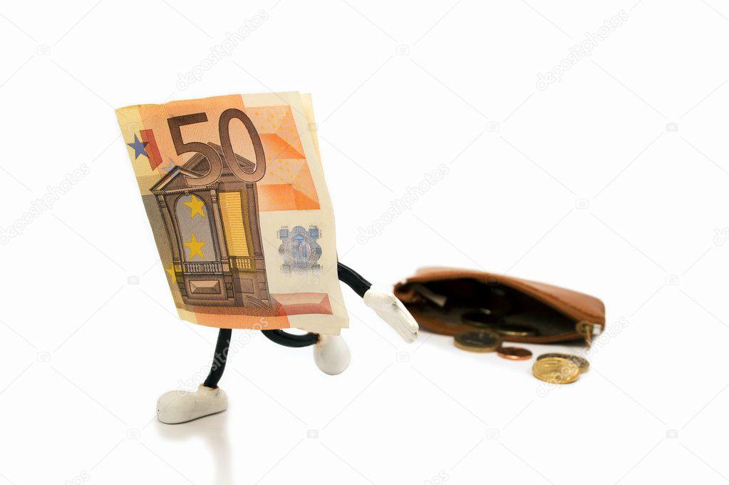 Ticket 50 Euro Escaping Stock Photo C Nanaplus 18763951
