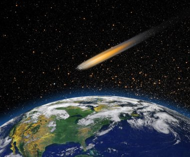Attack of the asteroid on the Earth