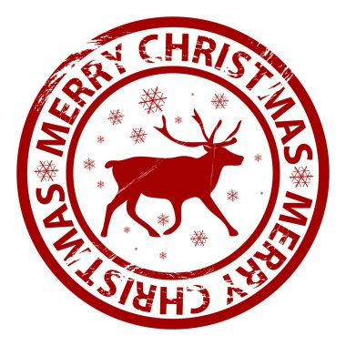 Vector Christmas rubber stamp