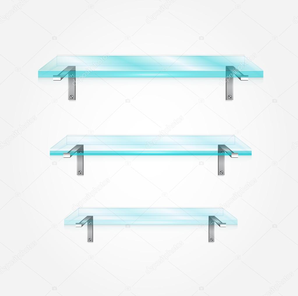 estantes de vidrio Vector Archivo Imgenes Vectoriales