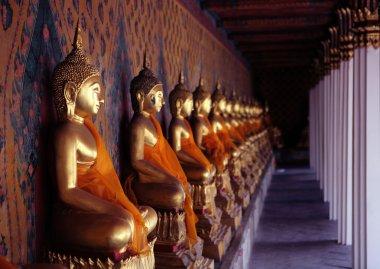 Ancient buddha images. Wat Arun temple. Bangkok. Thailand.