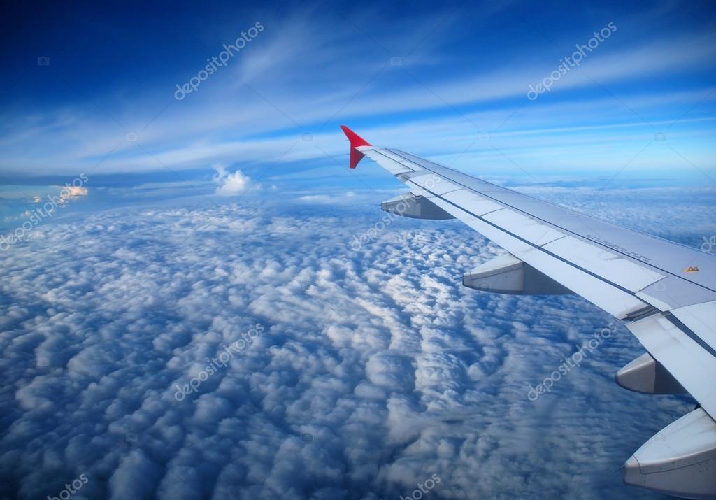 Blick Aus Dem Flugzeug Fenster Stockfoto Studio023 22237655