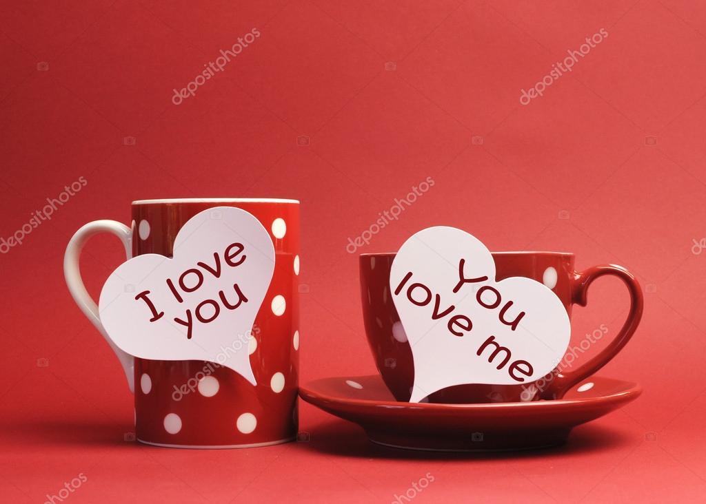 Happy Valentine I Love You En You Love Me Berichten Op Hart