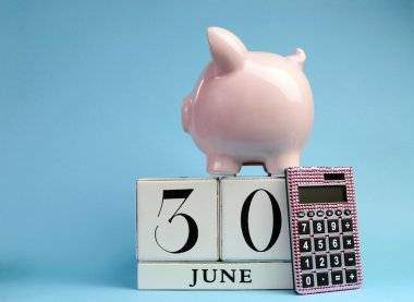 Calendar date for End of Financial Year, 30 June, for Australian tax year or retail stocktake sales