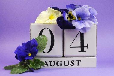 "Картина, постер, плакат, фотообои ""Сохраните Дата календарь Август 4, день дружбы"", артикул 28763399"