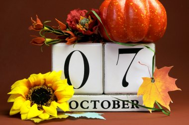 Save the date calendar for individual October dates