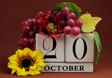 Save the date calendar dates for individual days in October