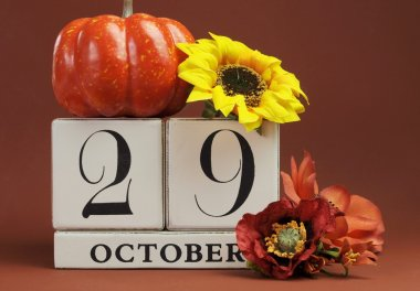 SAve the date calendar for individual days in October
