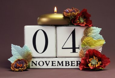 Save the Date individual calendar days for special events and holidays