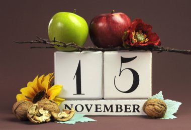 Save the date calendar for every individual day in November