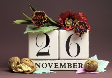 Individual day in November Save the Date calendars