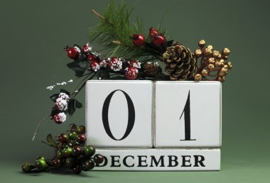 December seasonal save the date calendar