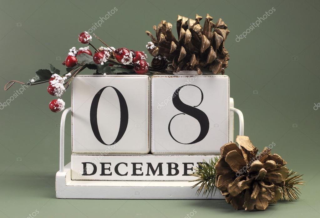 Speichern von Datum shabby chic weiß Kalender für einzelne Tage im ...