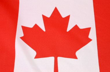 Close up for Canada flag for Canadian holidays, events, backgrounds and travel