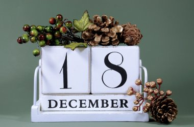 Seasonal Calendar for Christmas Advent days or specific dates in December.