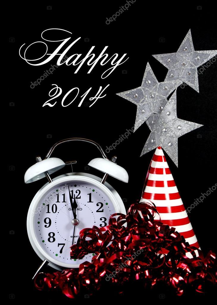 Frohes neues Jahr, 2014, Nachricht Gruß Silvester Partydekorationen ...