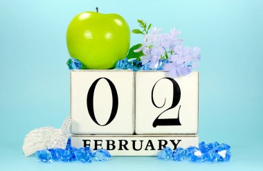 SAve the date vintage calendar for February