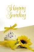 Fényképek gyönyörű díszített és színes cupcake, egy-egy, a hét minden napjára