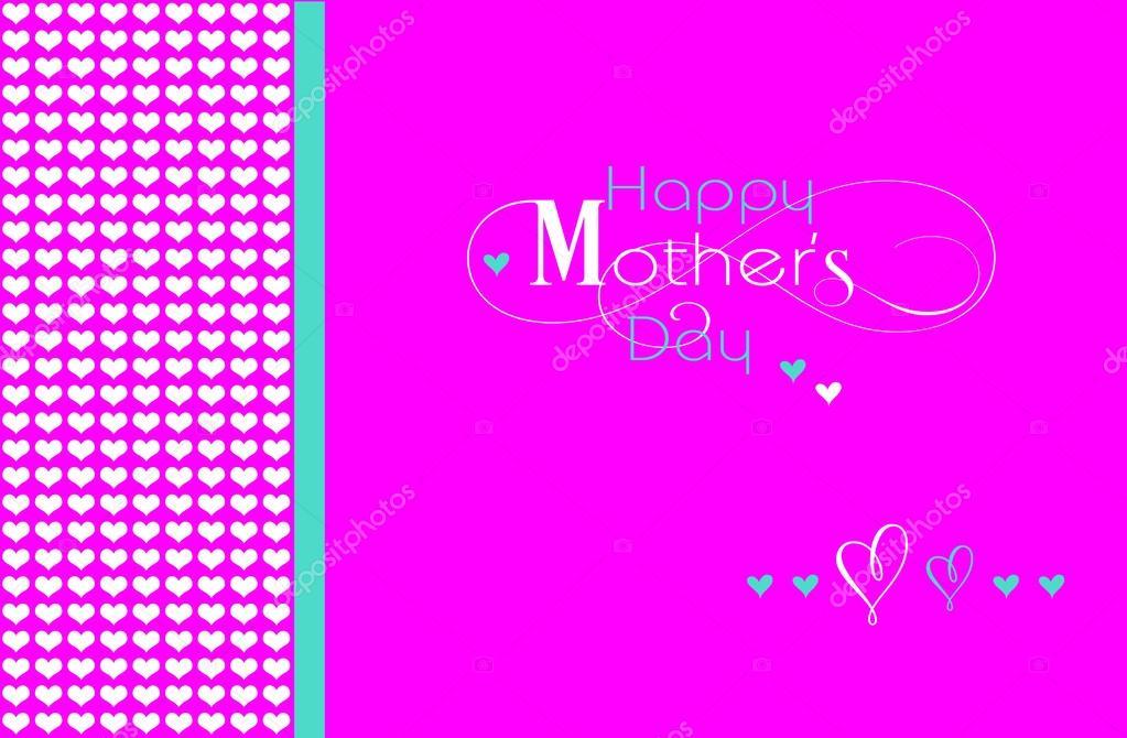 27499fc57b Boldog anyák napja üdvözlő szöveg, modern világos rózsaszín háttér, pöttyös  szív mintás a tapéta vagy üdvözlés kártya — Fotó szerzőtől ...