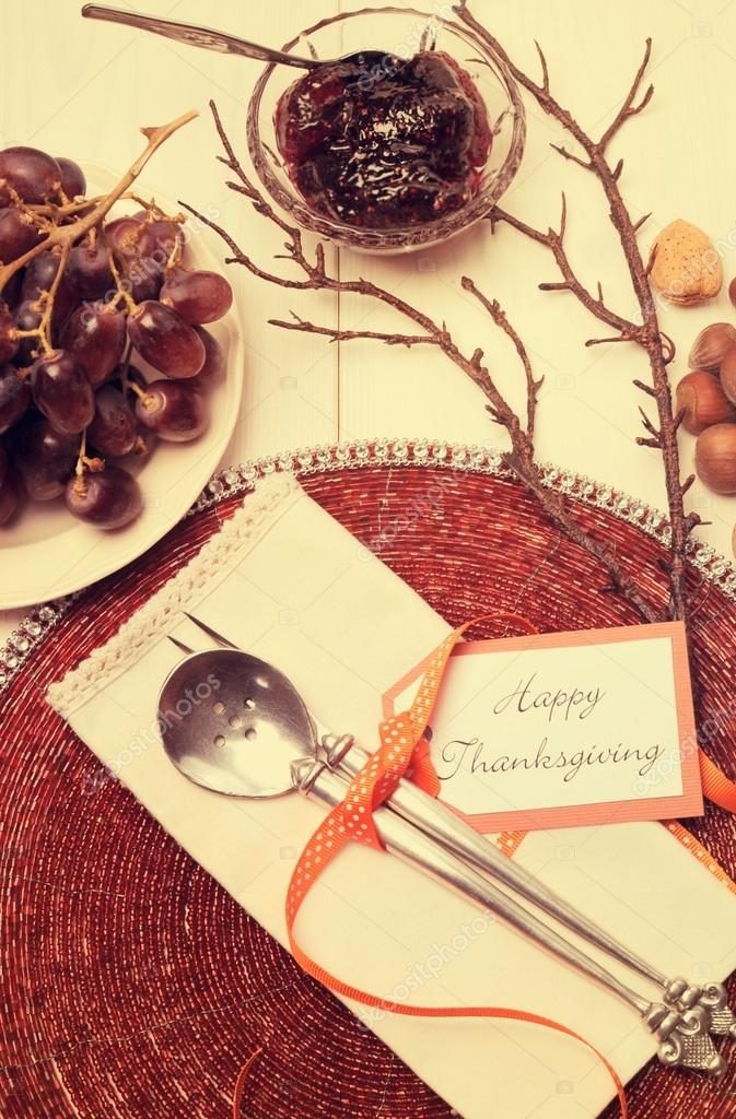 Happy Thanksgiving lunch, brunch or casual modern dining shabby