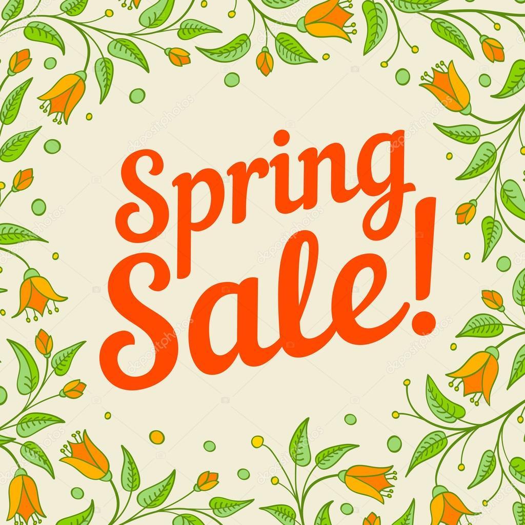 Spring sale design