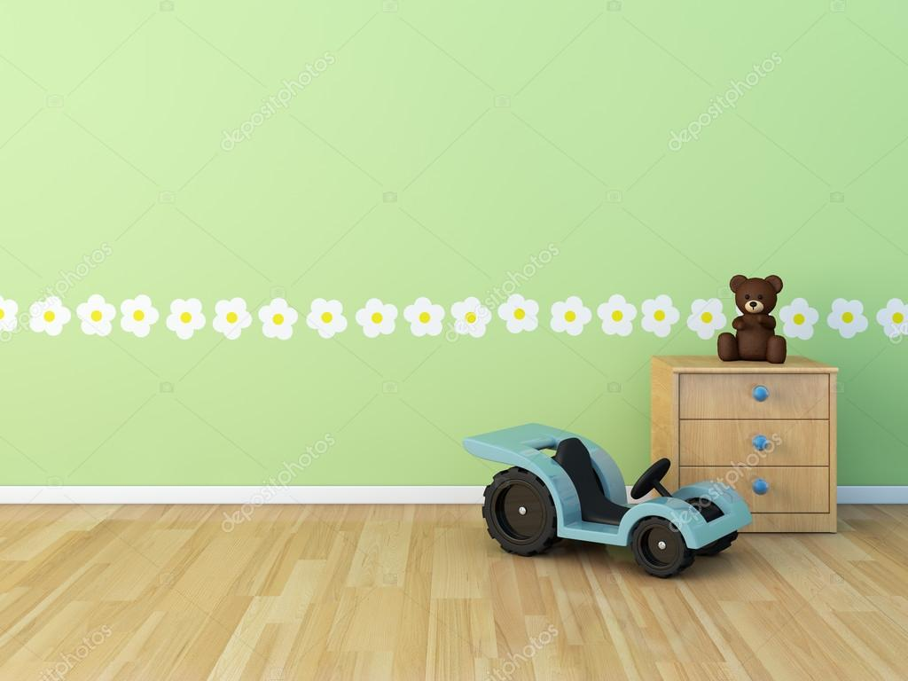 Imágenes: habitaciones de bebe | Diseño pared pintado habitación ...