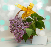 Fotografie Lilacs in a basket
