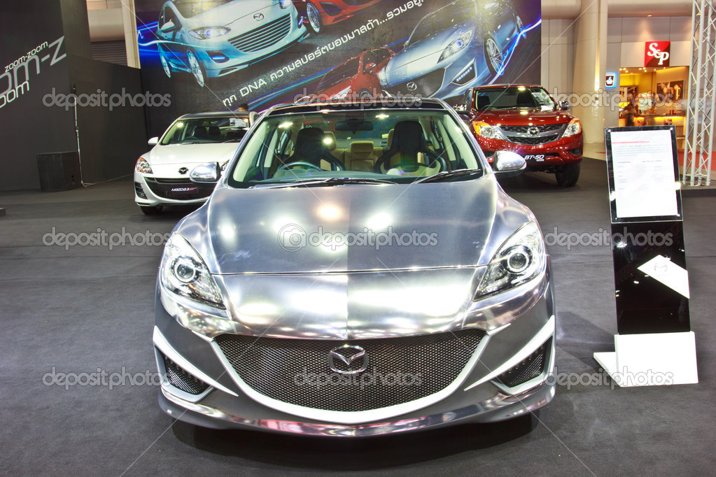 BANGKOK   JUNE 23 : NEW MAZDA 3 Show At The Second Bangkok International  Auto Salon 2013, The Largest And Most Magnificent Modified Car And  Automobile ...