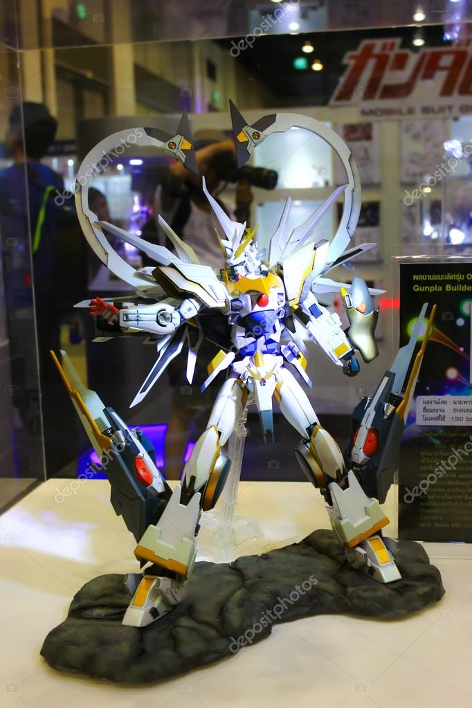 A model of the character Gundam from the movies and comics 13