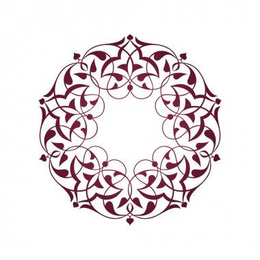 Pembe Osmanlı motifleri beyaz zeminde