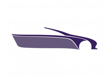 Mor araba logosu beyaz zeminde