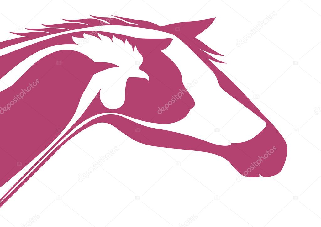 Pink veterinary logo