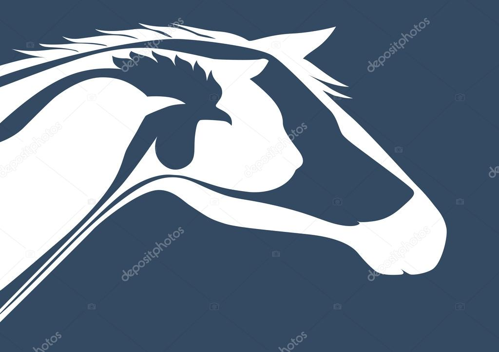 Veterinary logo blue background