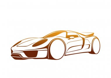 Abstract vector car logo