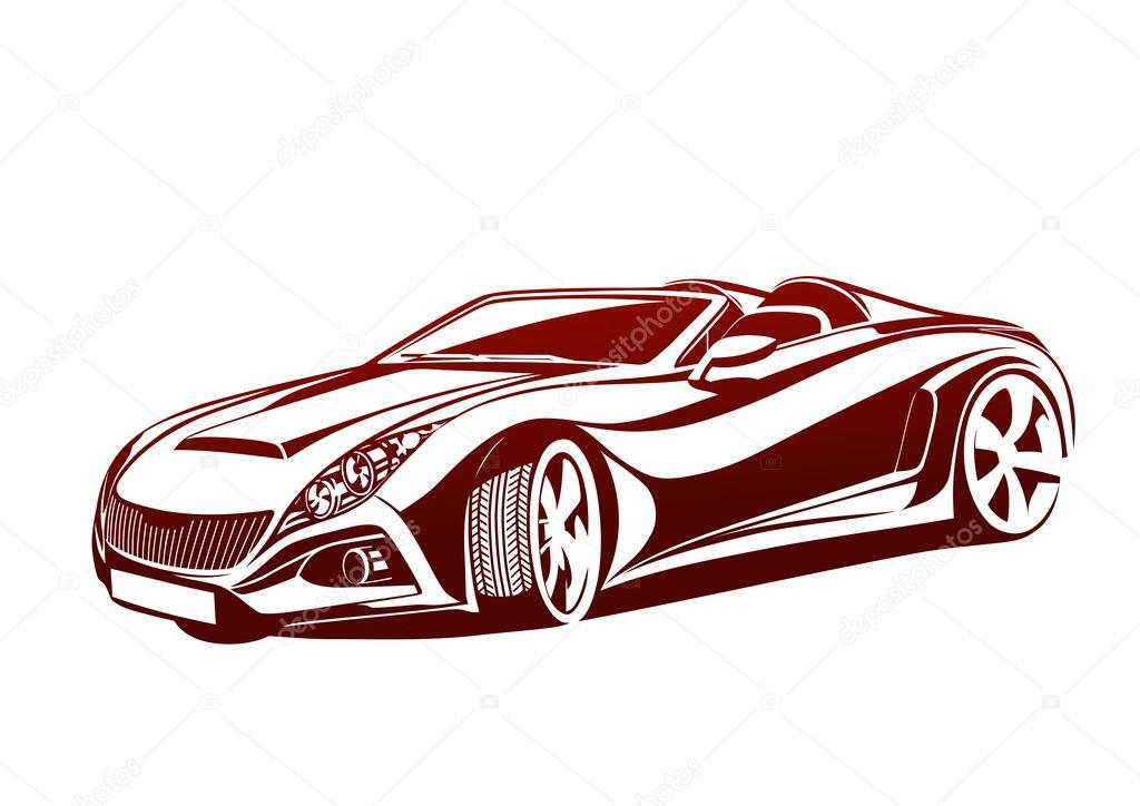 Vektör Karizmatik Otomobil çizimi Stok Vektör Topcu 37557677