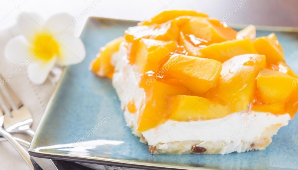Hawaiian Mango Jello Cheesecake Stock Photo Lameeks 26019699