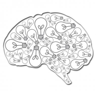 Brain filled with ideas