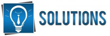 Solutions Banner Bulb Blue